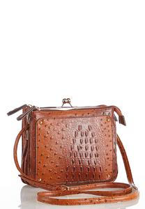 Ostrich Multi Compartment Crossbody