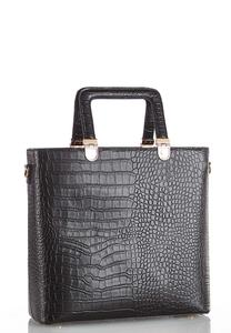 Square Handle Croc Tote
