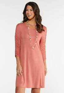 Plus Size Ruched Swing Dress