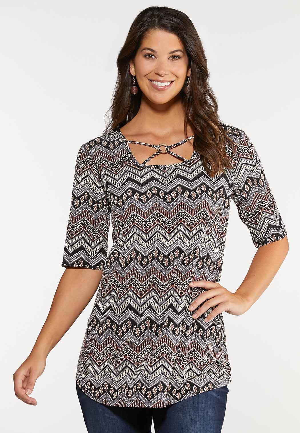 Aztec Criss Cross Top