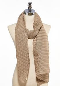 Solid Textured Oblong Scarf