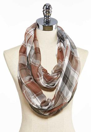 Lightweight Plaid Infinity Scarf