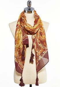 Bold Tasseled Oblong Scarf
