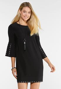 Plus Size Studded Shift Dress