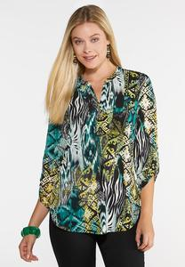 Plus Size In The Jungle Top