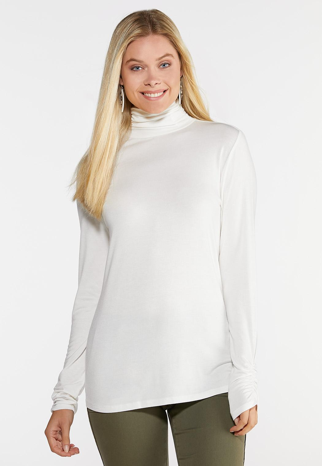 Ruched Turtle Neck Top