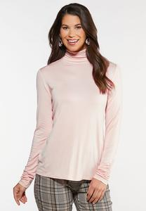 Ruched Turtleneck Top