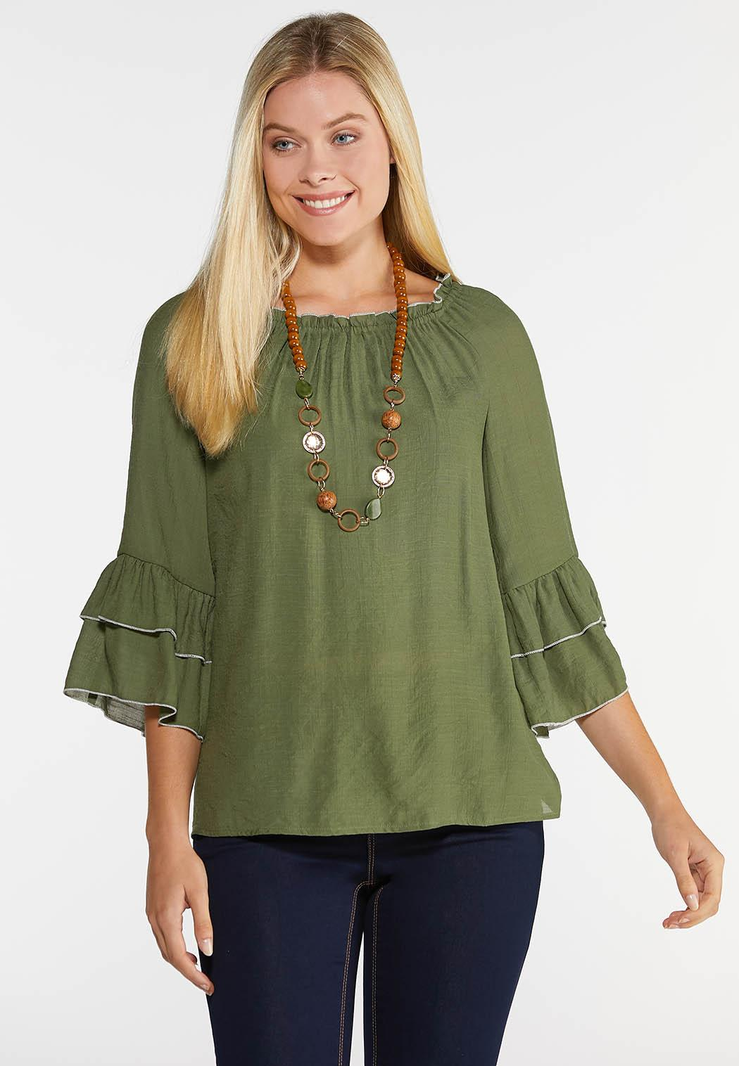 Piped Tier Poet Top