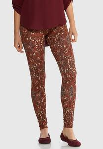 Paisley Rust Leggings