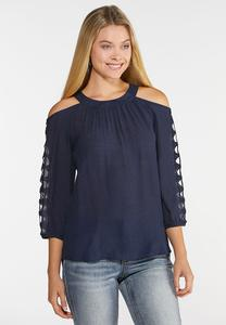 Plus Size Cleo Lattice Top