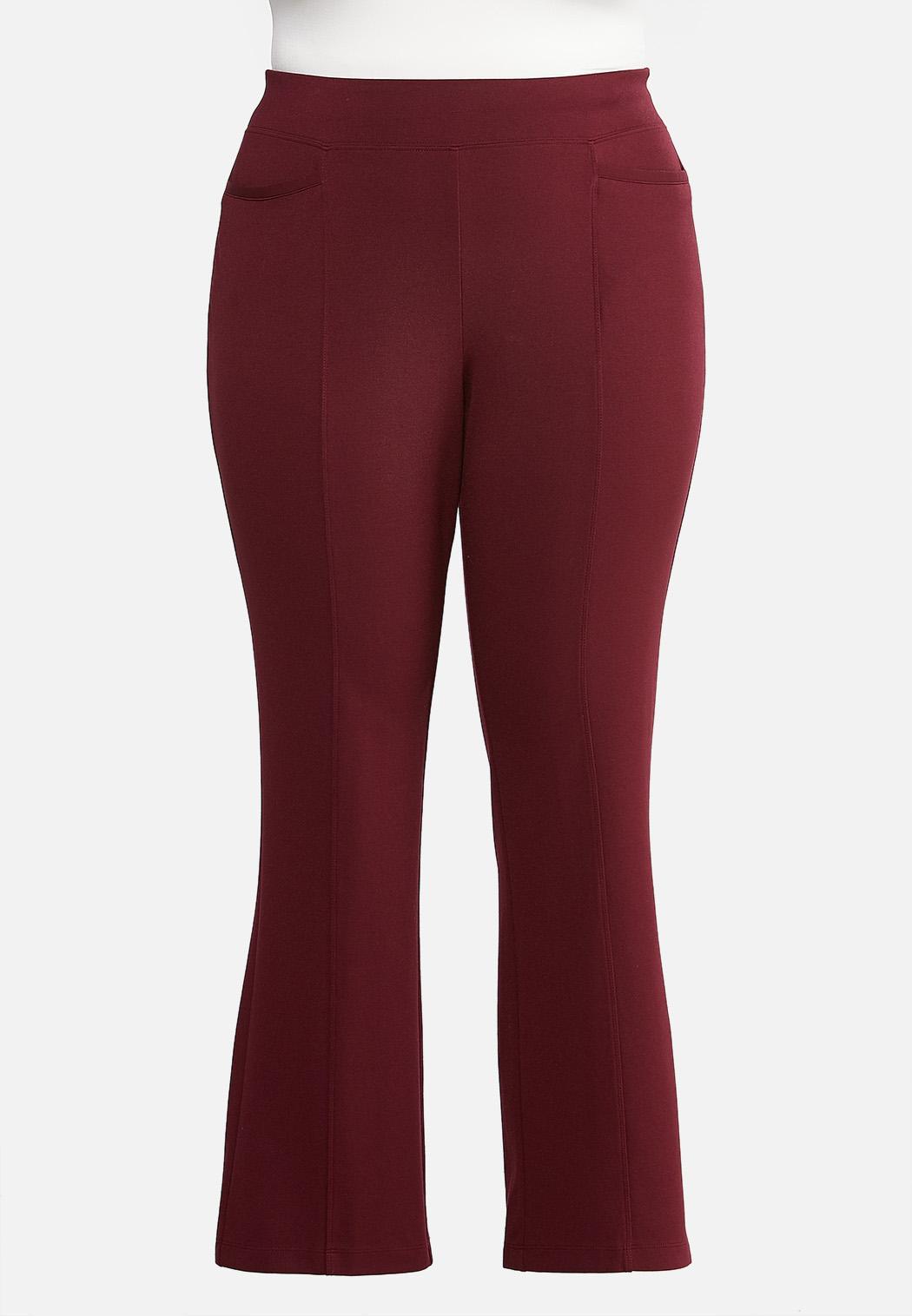 Plus Size Slim Bootcut Ponte Pants