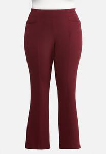 Plus Size Slim Bootcut Ponte Pants