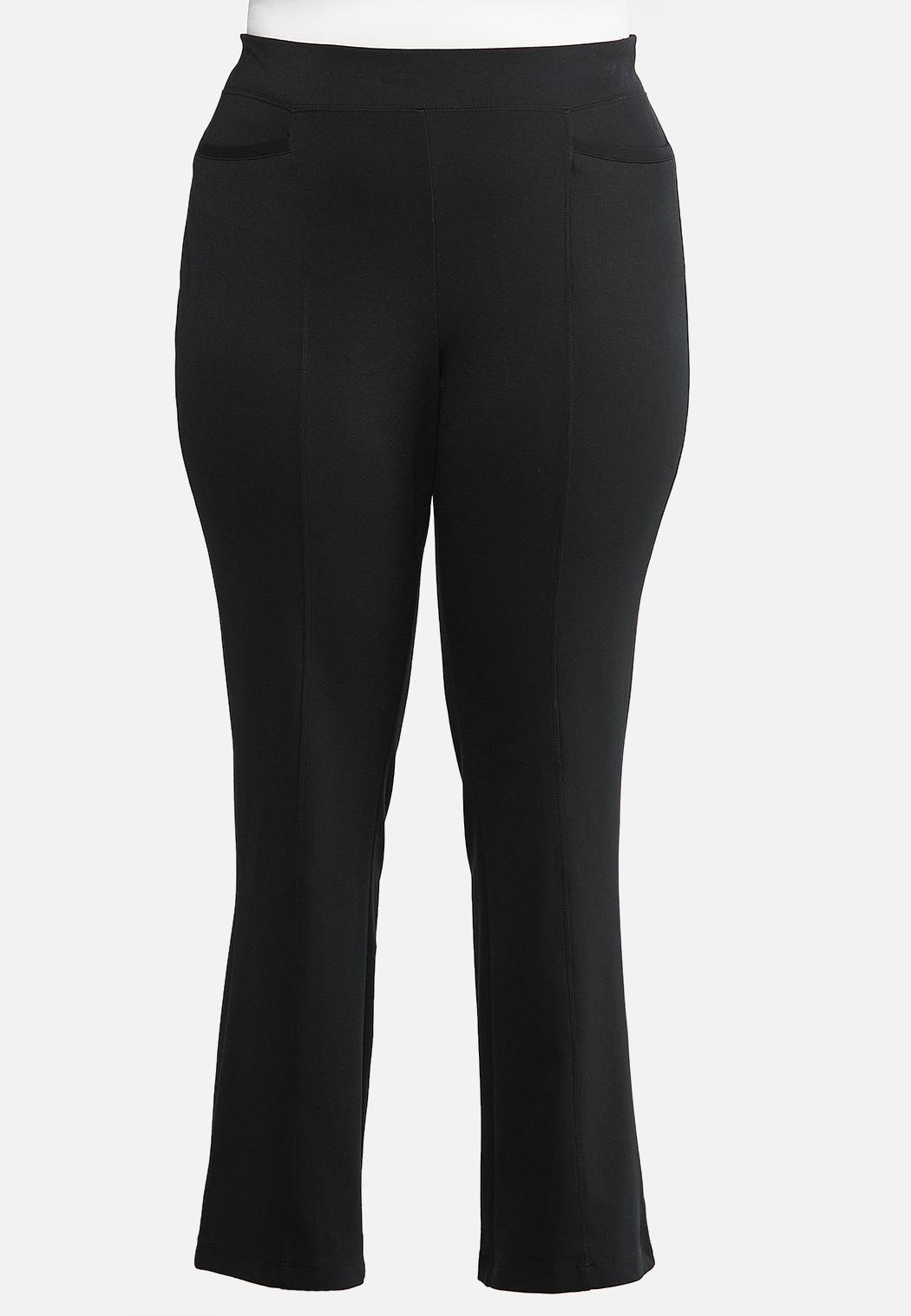 Plus Petite Slim Bootcut Ponte Pants