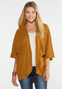 Plus Size Ribbed Dolman Cardigan