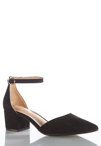 Wide Width Two Piece Ankle Strap Pumps