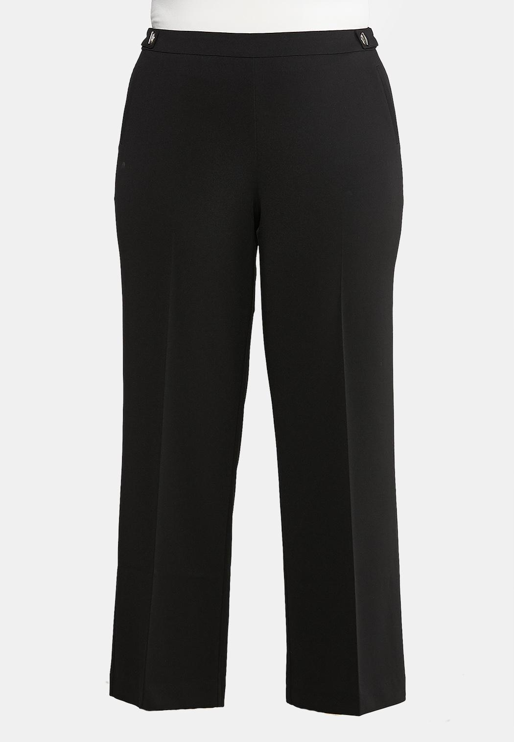 Plus Size Pull-On Trouser Pants