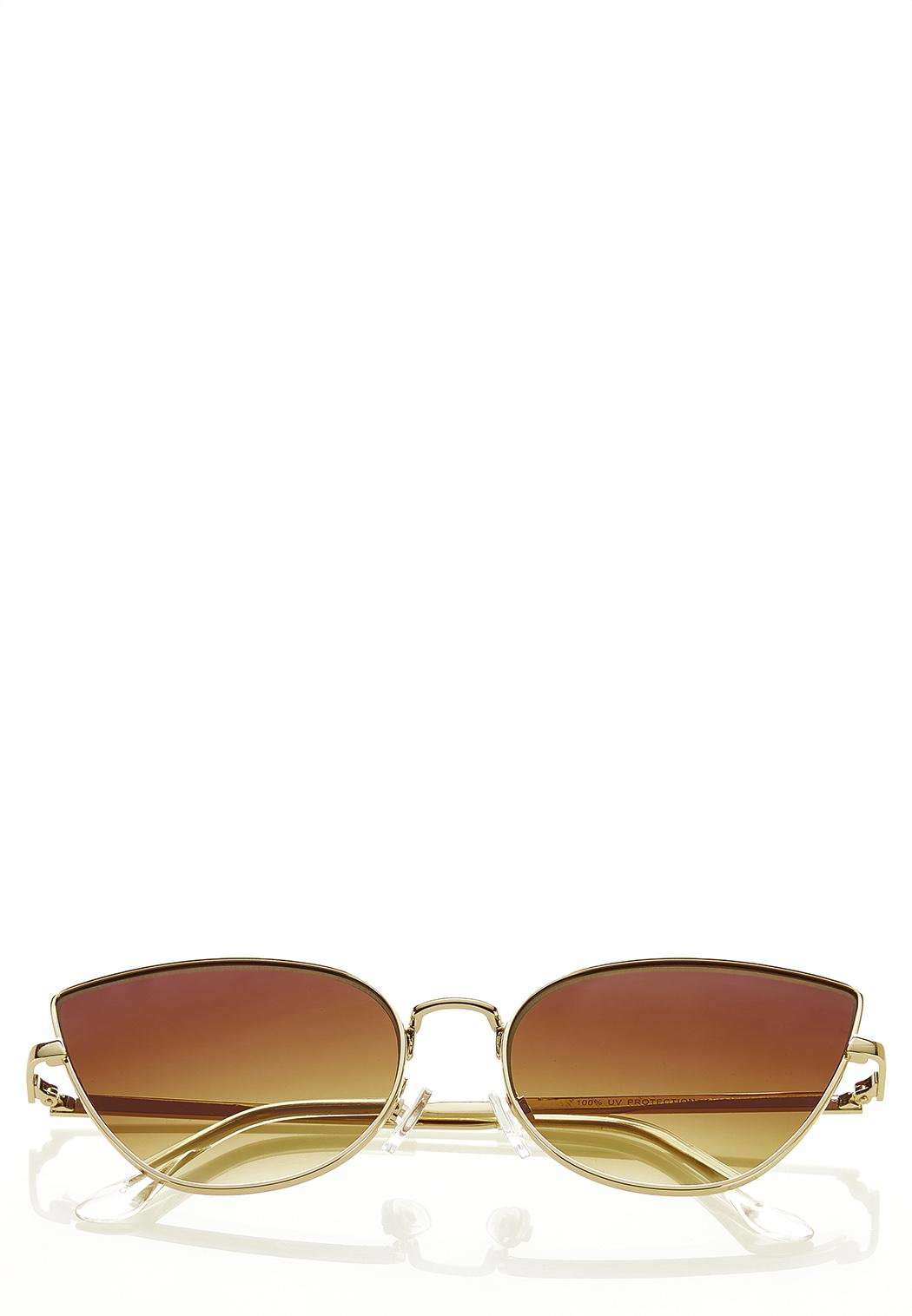 Gold Rim Cateye Sunglasses
