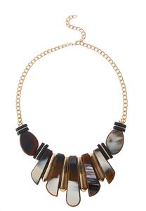 Tortoise Bead Bib Necklace