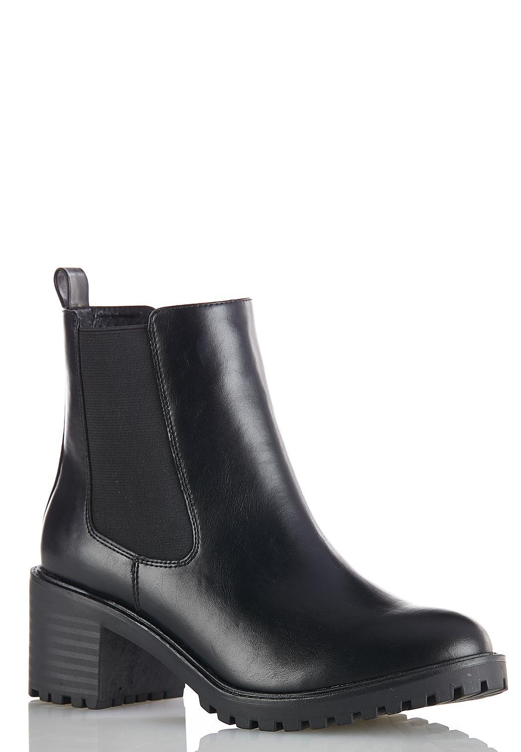 Wide Width Stretch Gore Lug Boots
