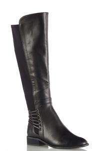 Wide Width Stretch Calf Riding Boots