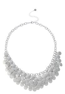 Shaky Silver Bib Necklace