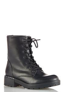 Lace Up Lug Boots