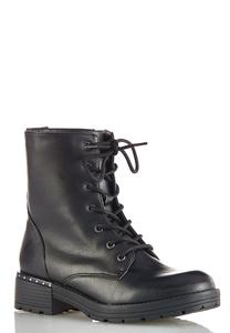 Lace Up Lug Boots