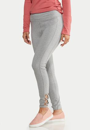 Lattice Hem Leggings