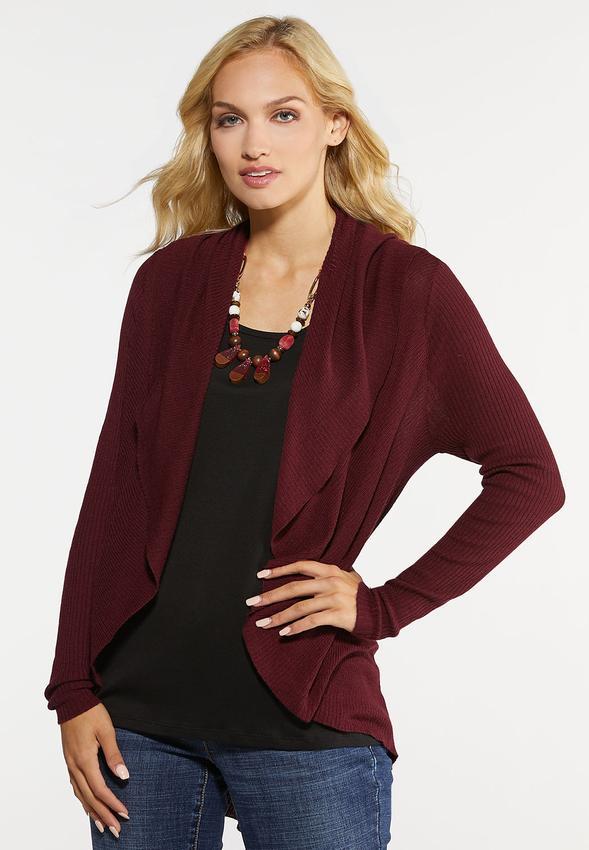 7d077753871 Plus Size Ribbed Cardigan Cardigans & Amp ; Shrugs Cato Fashions