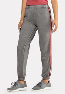 Striped Fleece Joggers