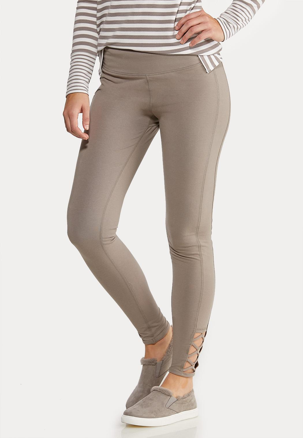 Lattice Hem Leggings