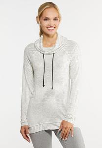 Plus Size Cowl Neck Sweatshirt