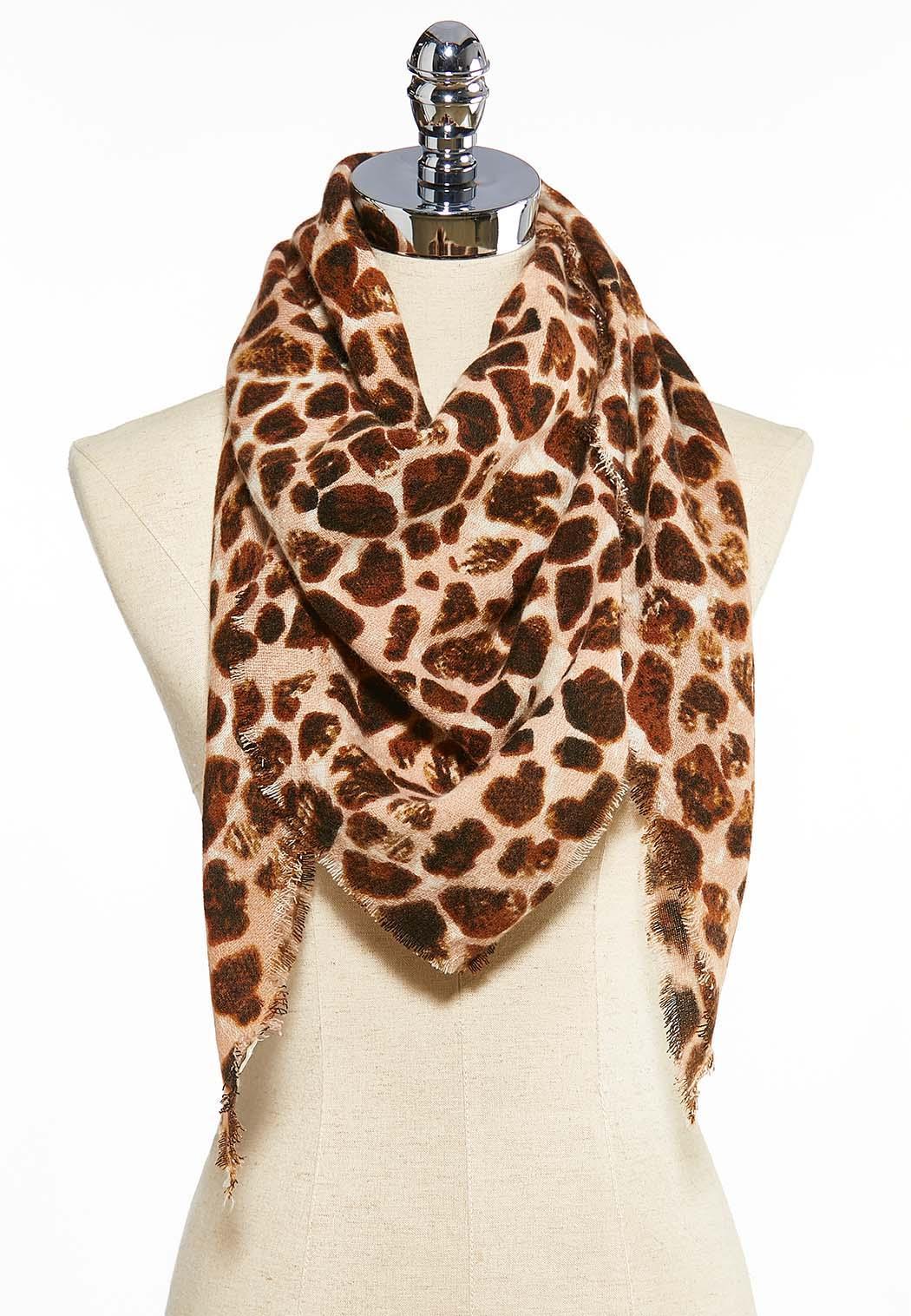 Snakey Leopard Triangle Scarf
