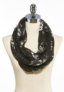 Floral Sequin Infinity Scarf