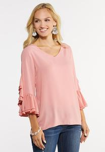 Plus Size Double Ruffle Top