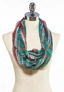 Green Plaid Infinity Scarf