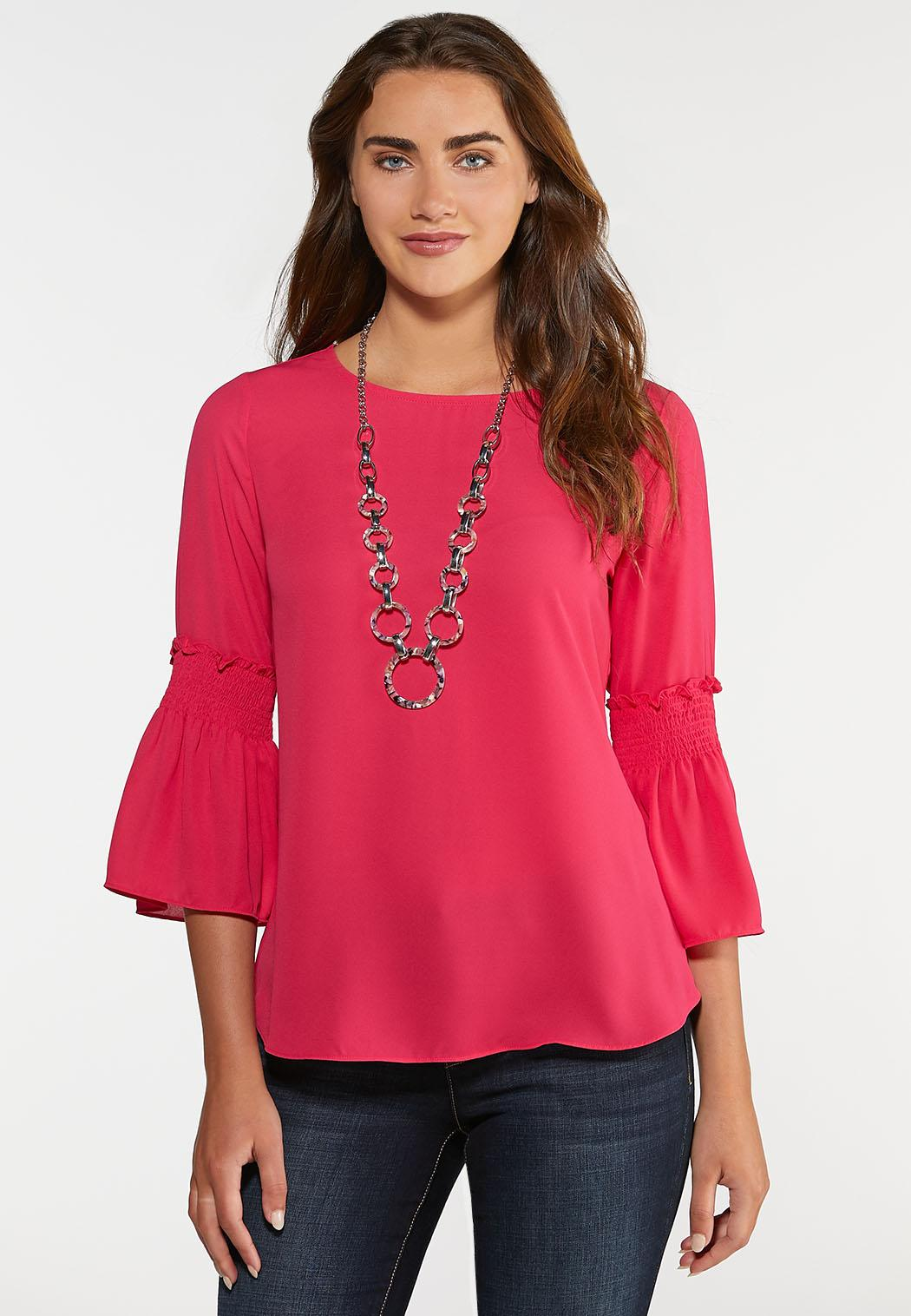 Smocked Bell Sleeve Top