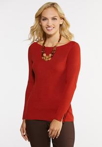 Plus Size Ribbed Pullover Top