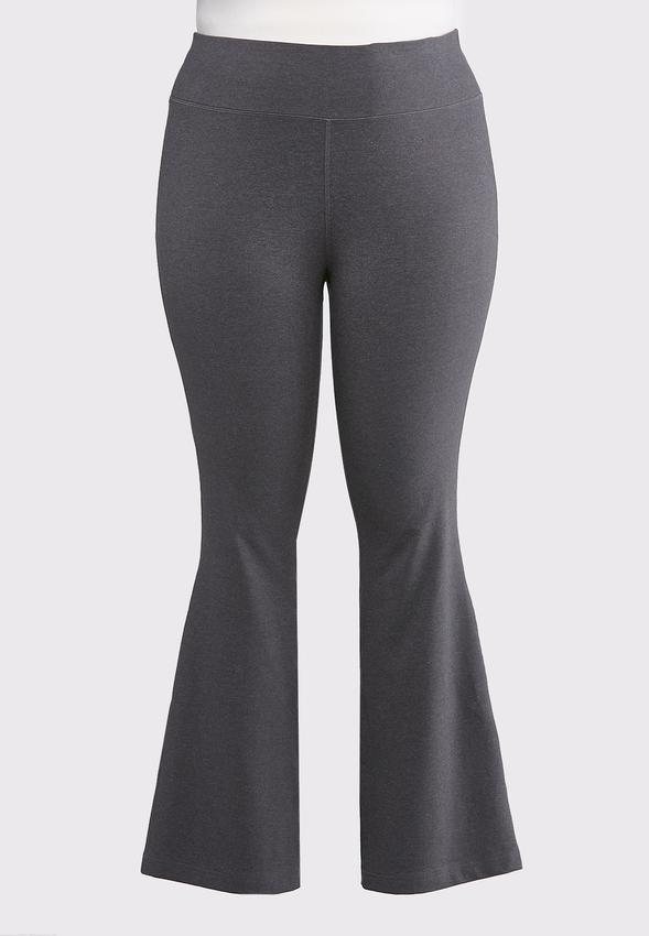 Plus Size Flare Leg Yoga Pants
