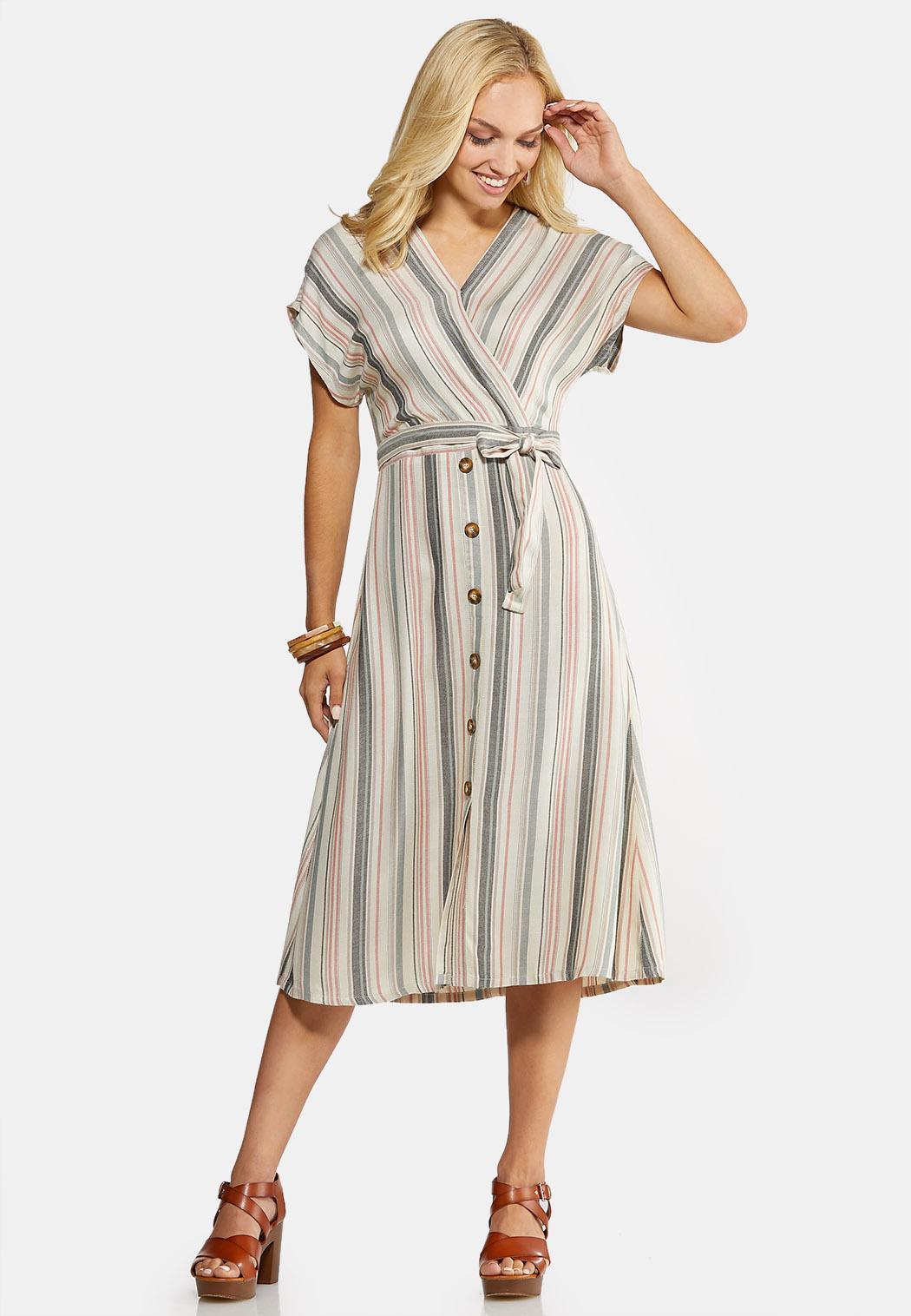 Mitered Midi Dress