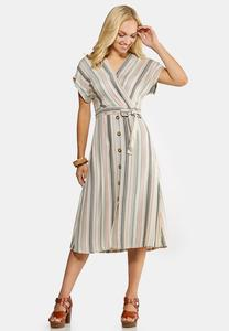 Plus Size Mitered Midi Dress