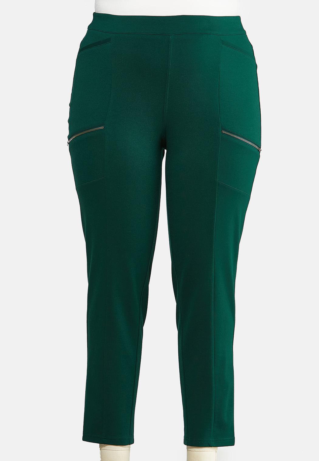 Plus Size Slim Utility Ponte Pants