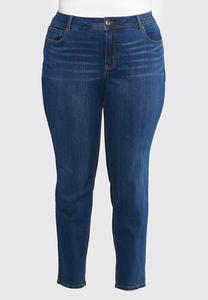Plus Size Dark Stretch Skinny Jeans