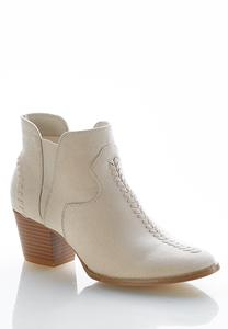 Wide Width Stitched Ankle Boots