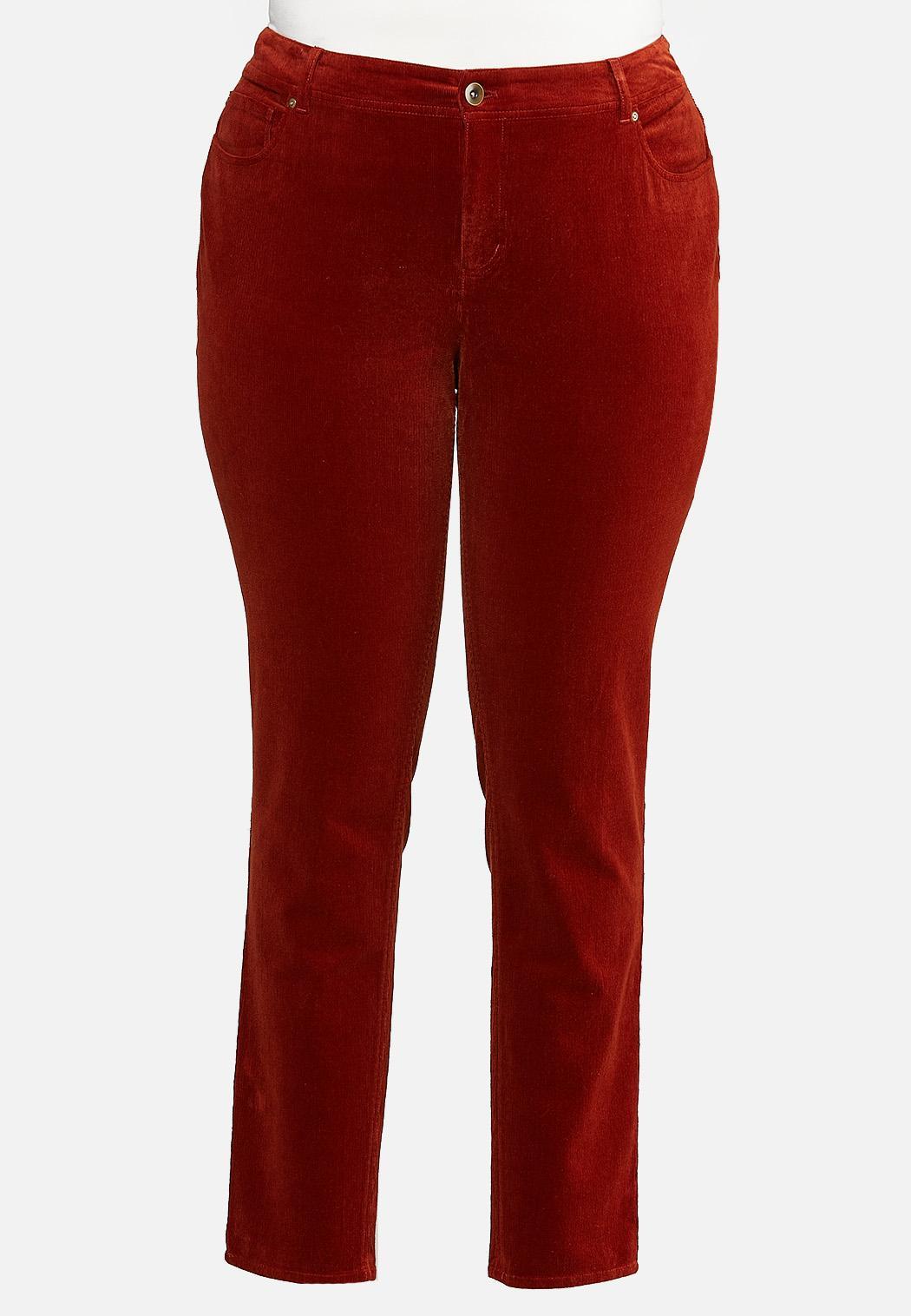 Plus Size Corduroy Slim Pants