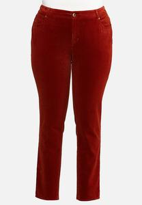 Plus Size Corduroy Slim Pants