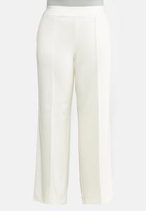 Plus Petite Wide Leg Ponte Pants