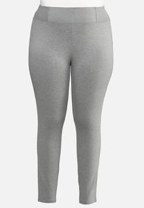 Plus Size Solid Ponte Leggings