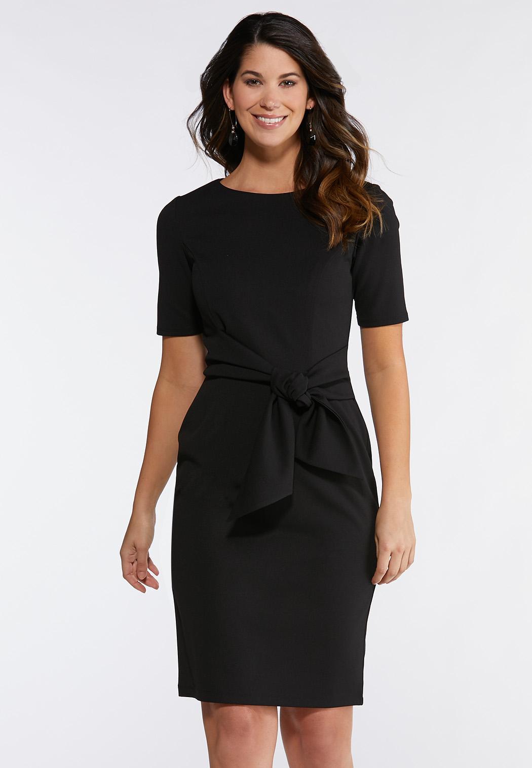 Plus Size Tie Waist Sheath Dress Plus Sizes Cato Fashions