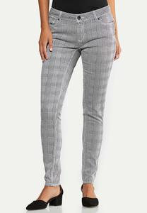 Houndstooth Skinny Jeans